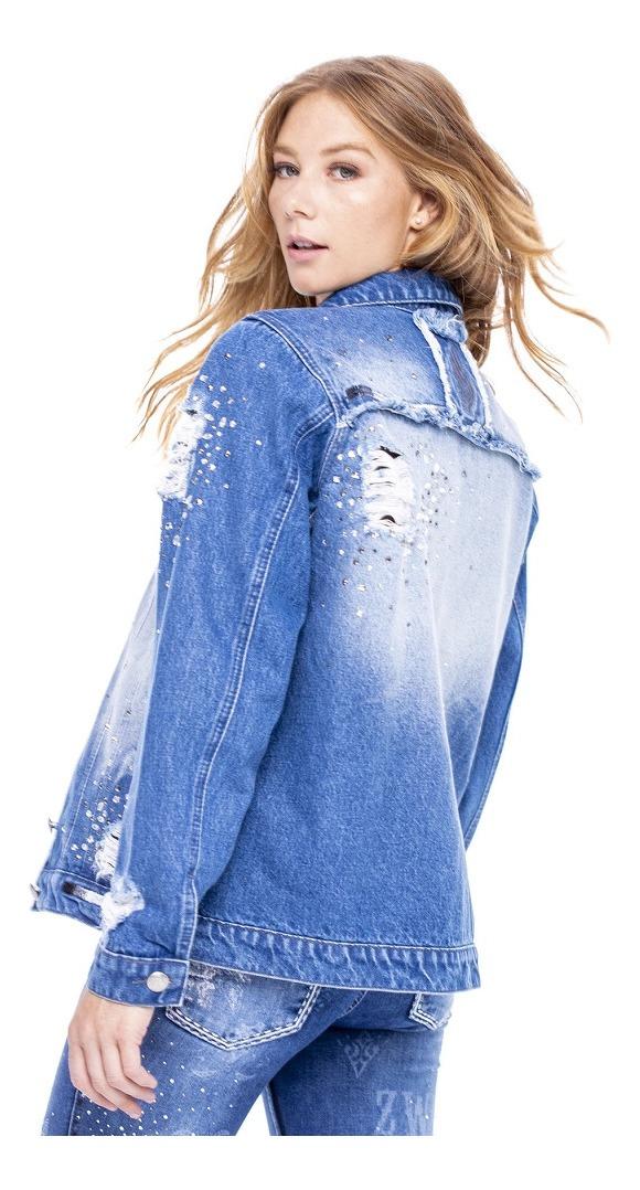 Jaqueta Jeans Feminina Zenz Western OLd Las Vegas ZW0121026