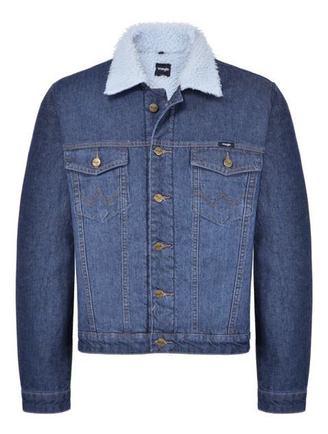 Jaqueta Jeans Masculina Wrangler Forrada WM9702