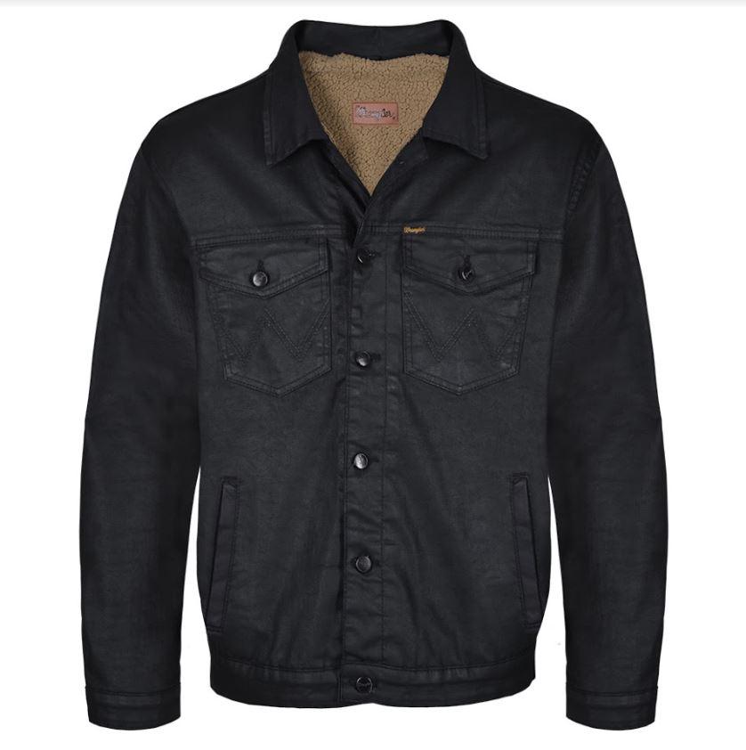 Jaqueta Jeans Resinado Masculina Wrangler Forrada WM9710