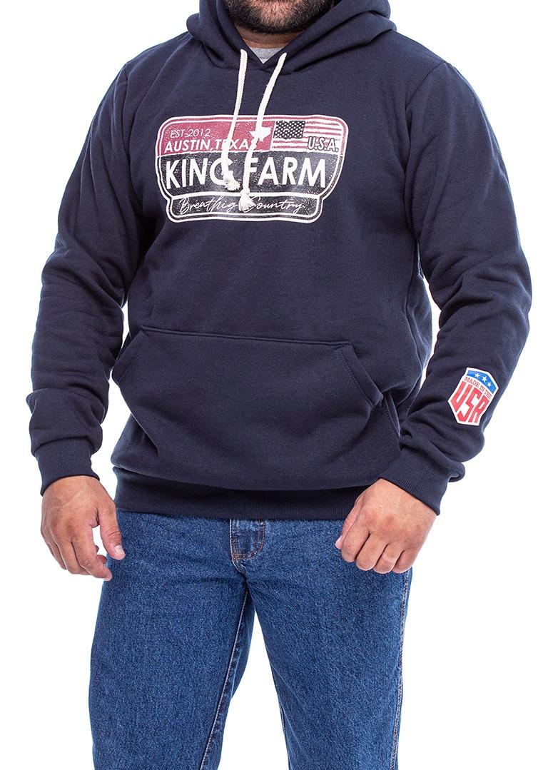 Moletom Masculino King Farm KFM218 Azul Marinho