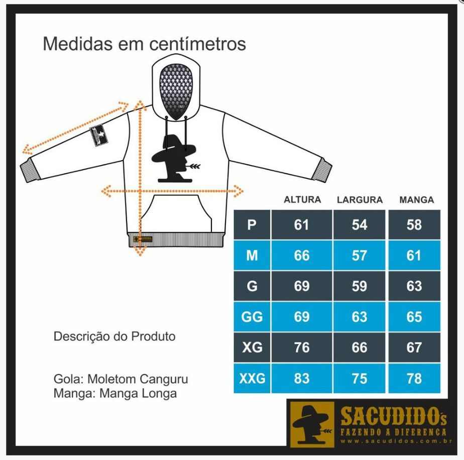 Moletom Masculino Sacudido's 17SCD