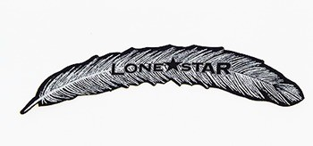 Pena Importada Adesiva Para Chapéu Lone Star