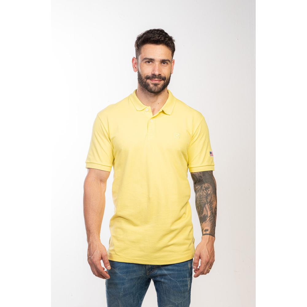 Polo Masculina TXC Brand Amarela 6341