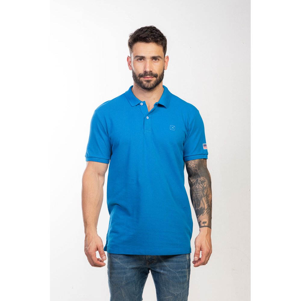Polo Masculina TXC Brand Azul Royal 6340