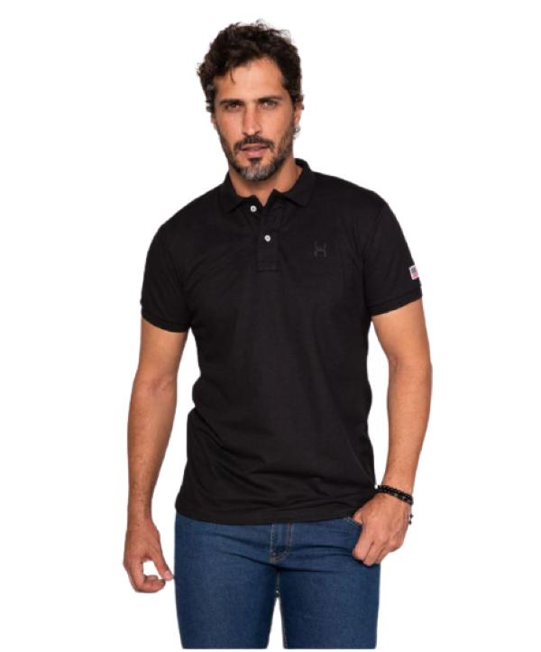 Polo Masculina TXC Brand Preta 6367