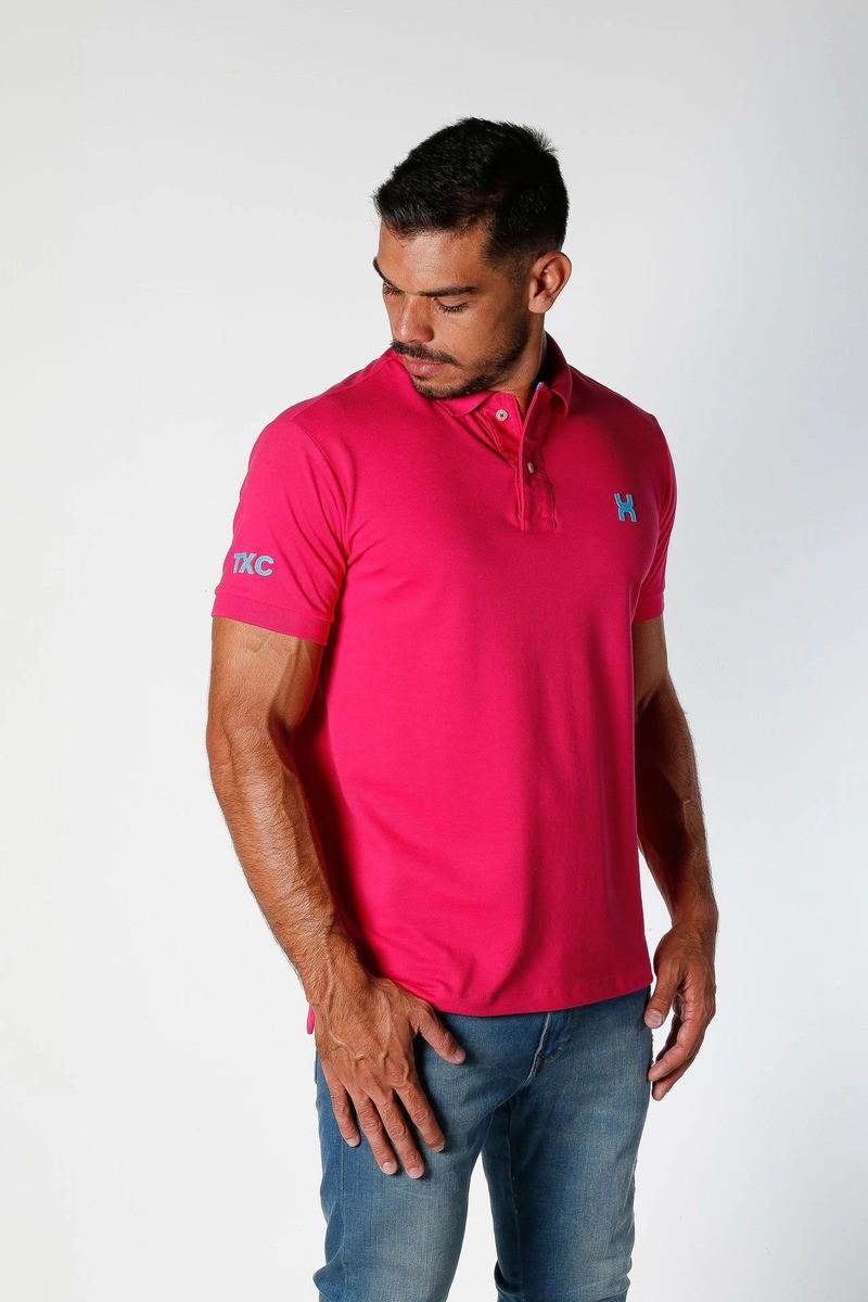 Polo Masculina TXC Brand Rosa 6261