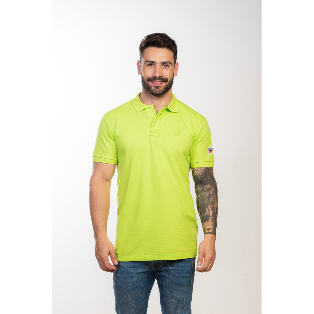 Polo Masculina TXC Brand Verde 6353