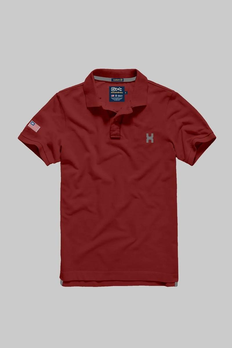 Polo Masculina TXC Brand Vermelho 6226