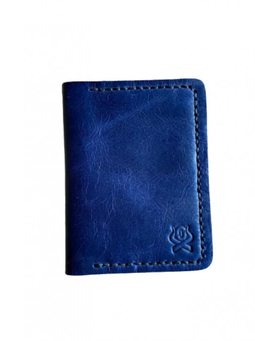 Porta Cartão Couro Ox Horns Azul