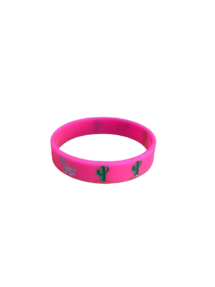Pulseira Silicone Cactus Pink