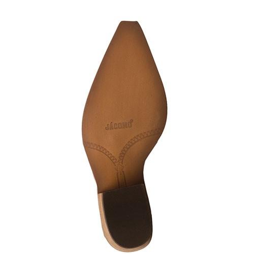 Sapato Feminino Mule Blaqueada Jácomo Fóssil Buff Sella 9331/TRQ