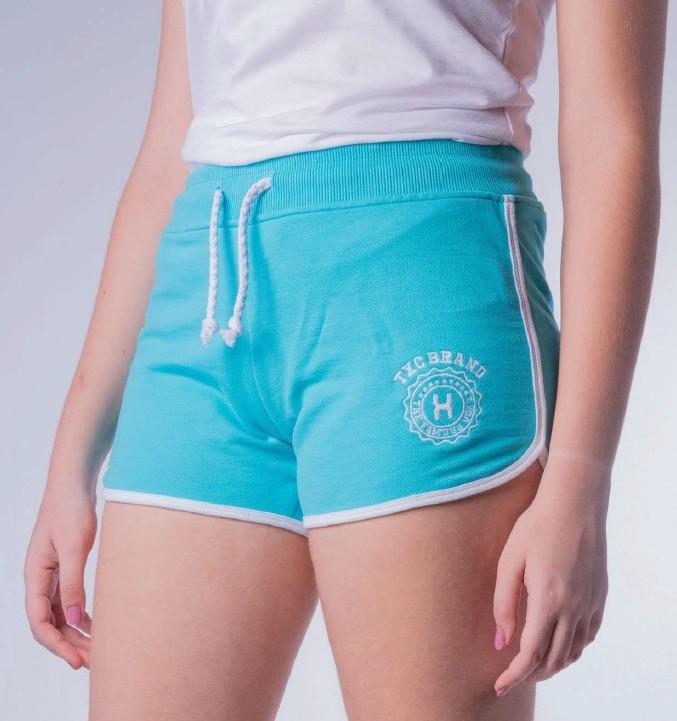 Short Feminino TXC Brand Moletom Azul Piscina 23029