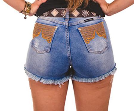 Short Jeans Feminino Doc Eco 9174 Selvagem Country