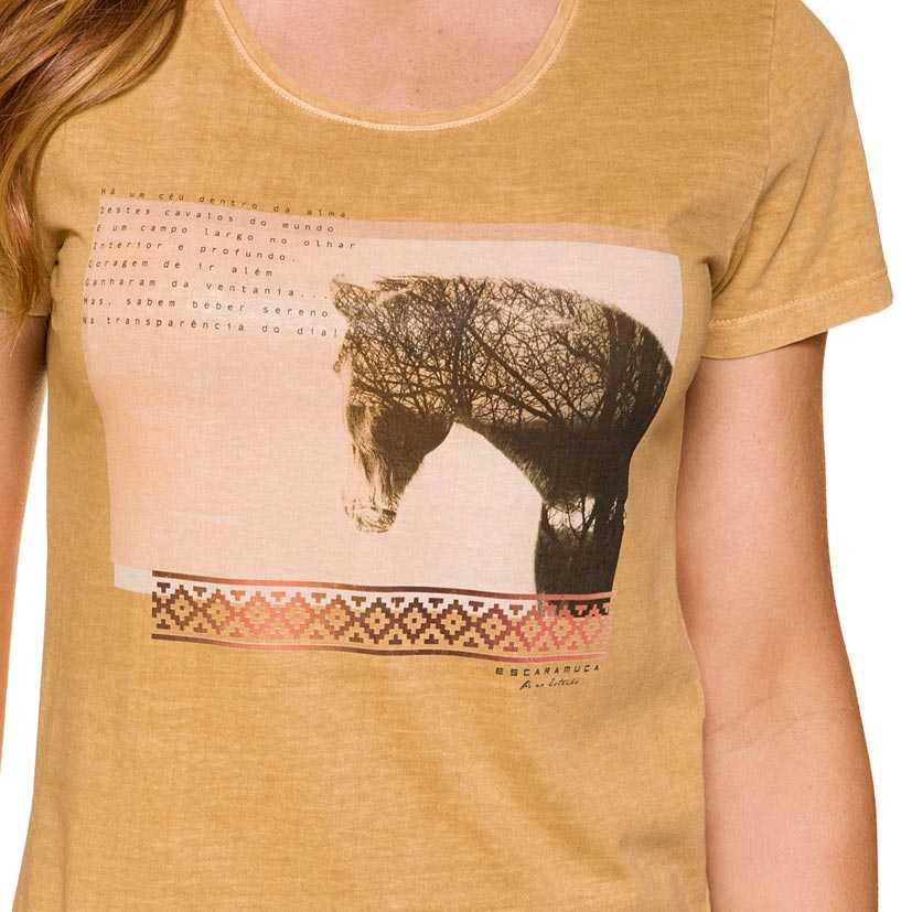 T-shirt Feminina Escaramuça Figueira