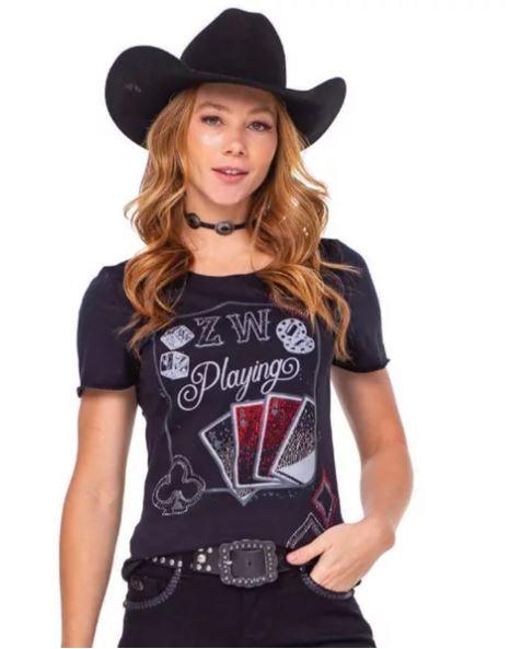 T-Shirt Feminina Feminina Zenz Western Billions ZW0221008