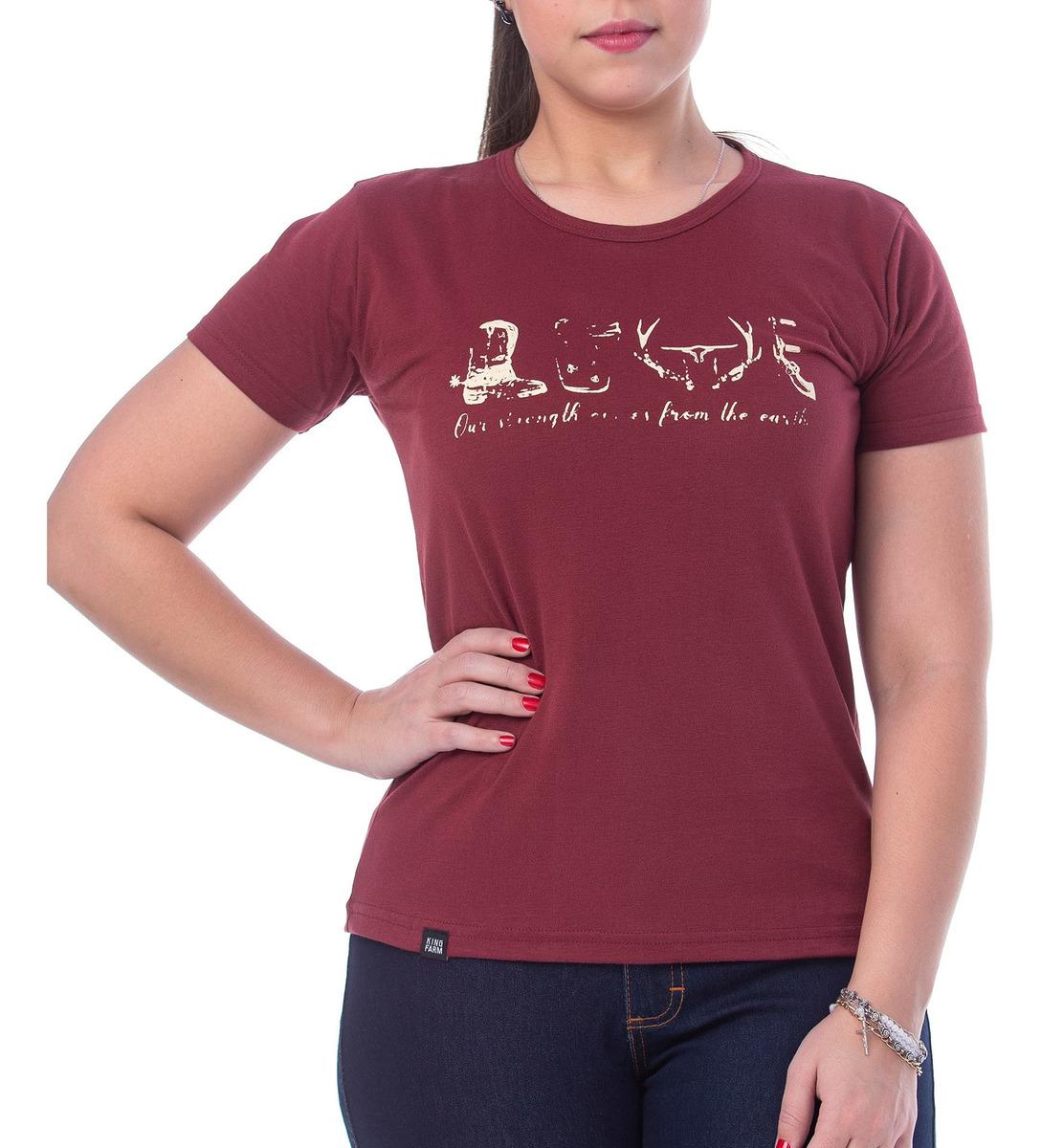 T-Shirt Feminina King Farm GCF02