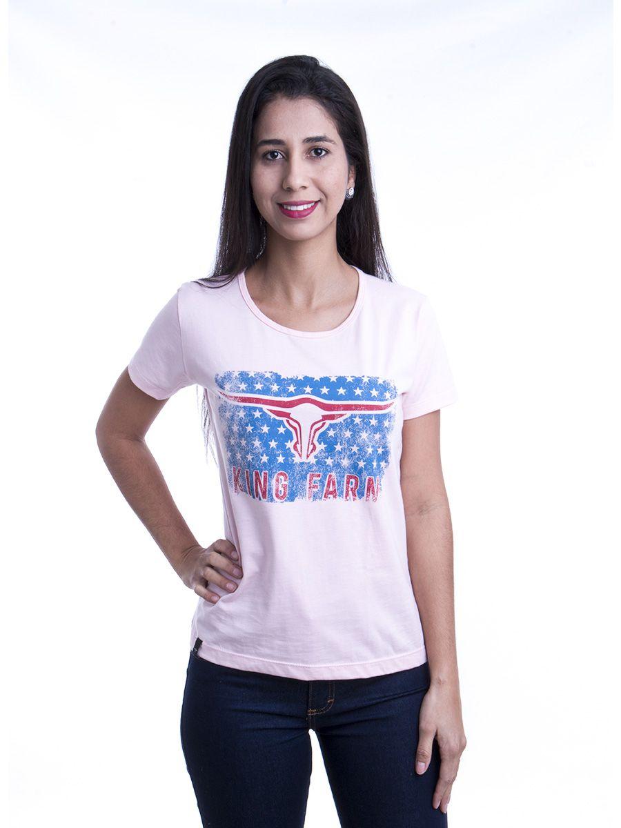 T- Shirt Feminina King Farm Rosa GCF05