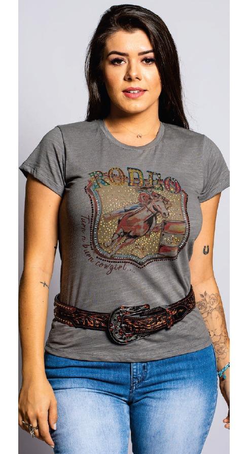 T-Shirt Feminina Miss Country Amores