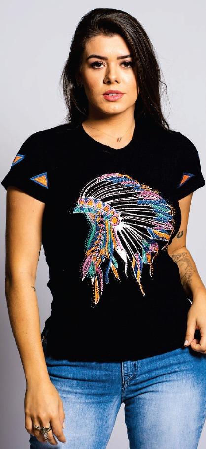 T-Shirt Feminina Miss Country Brasil