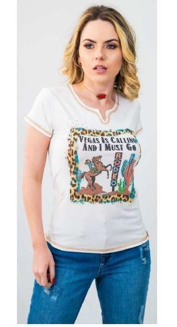 T-Shirt Feminina Miss Country Calling