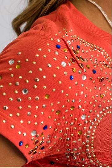 T-Shirt Feminina Miss Country Gold Laranja