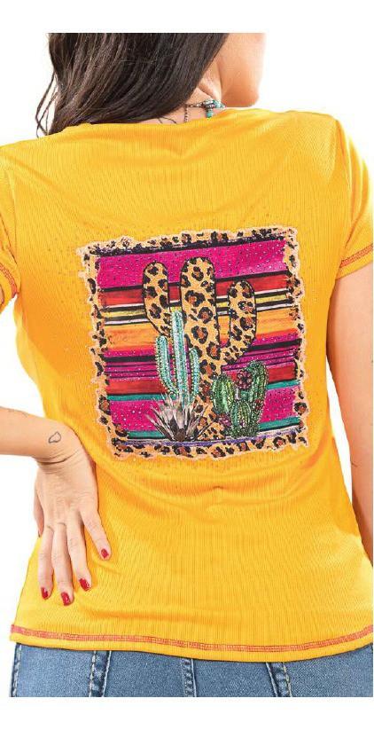 T-Shirt Feminina Miss Country Jackson