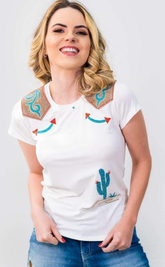T-Shirt Feminina Miss Country Kansas