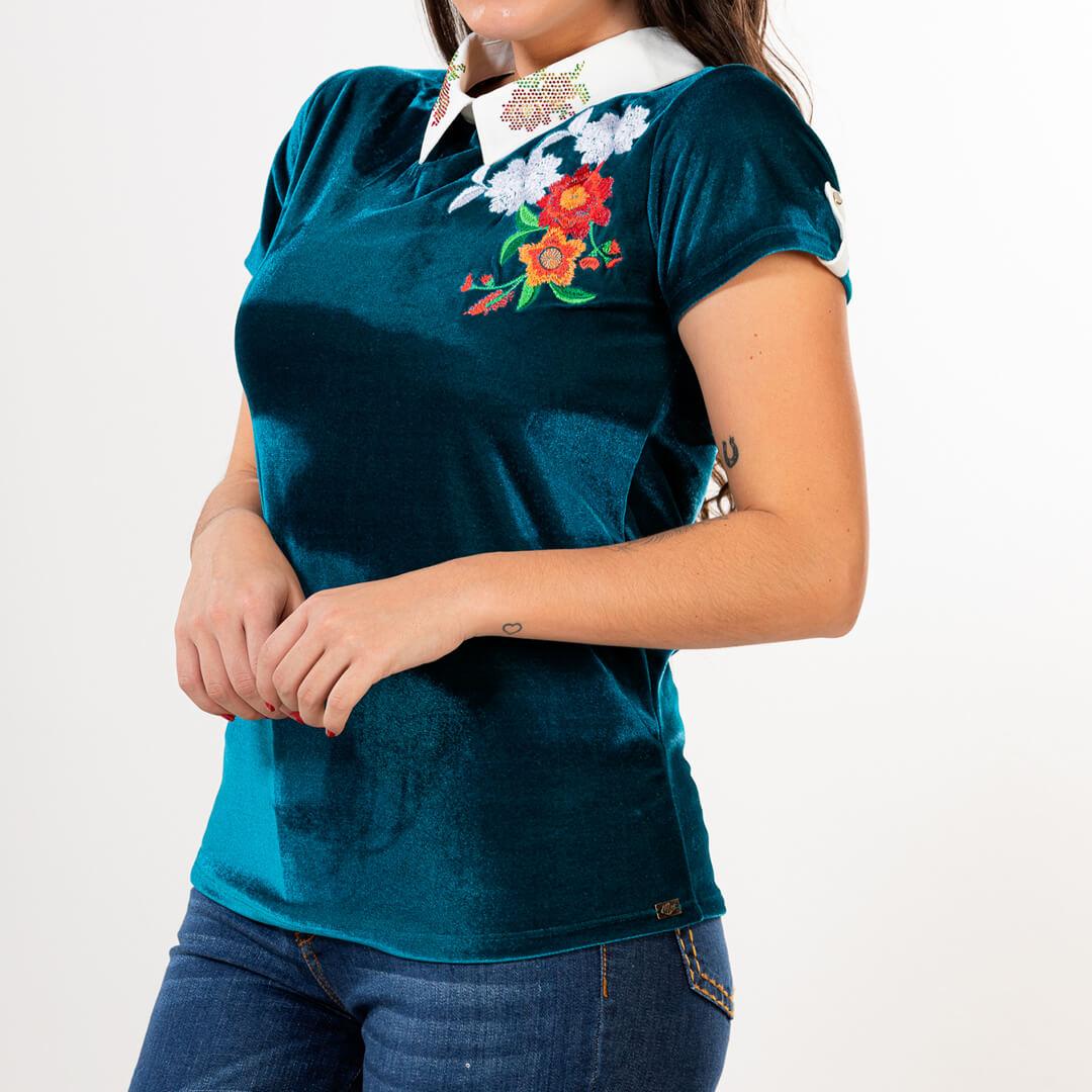 T-Shirt Feminina Miss Country Romantic