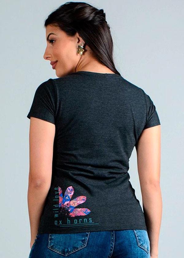 T- Shirt Feminina Ox Horns 6136