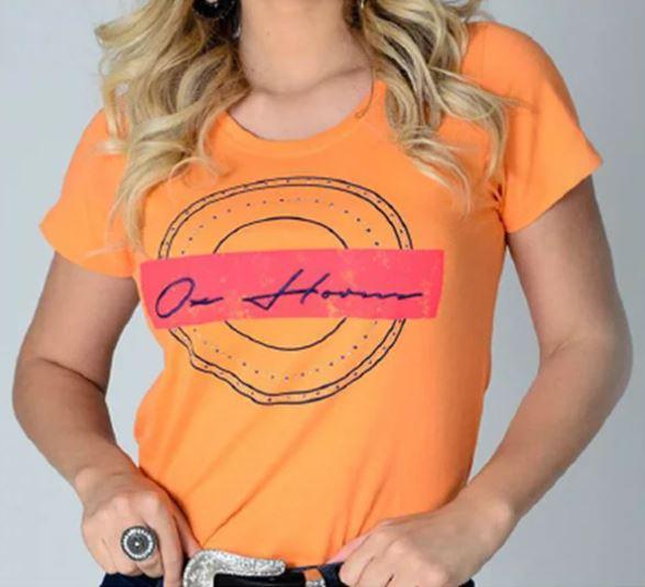 T-Shirt Feminina OX Horns laranja 6173
