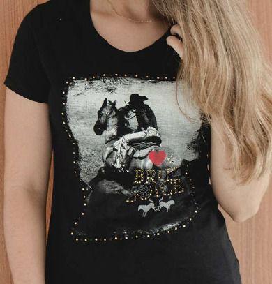 T-Shirt Feminina Ox Horns Preto 6133