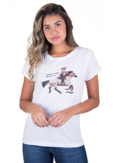 T-Shirt Feminina Wrangler WF8038
