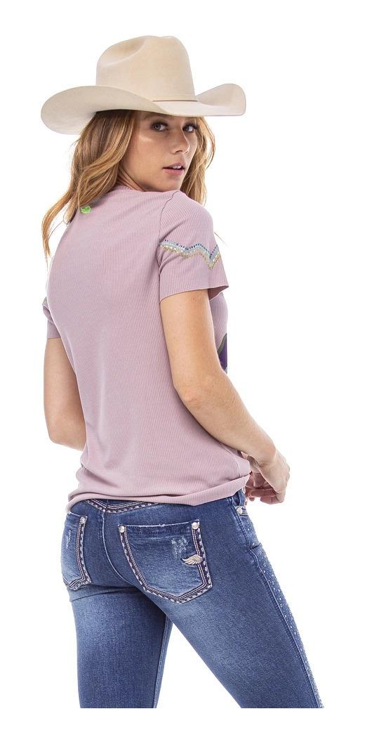 T-Shirt Feminina Zenz Western The Mirage ZW0121037