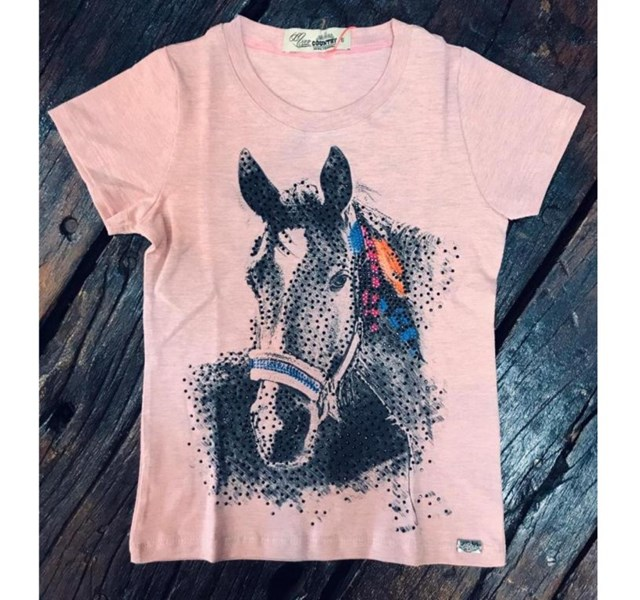 T-Shirt Infantil Miss Country Black Horse 278
