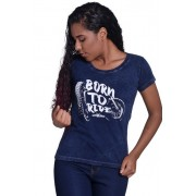 Camiseta Feminina Born To Ride