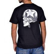 Camiseta Moto Lovers - Helmet Skull Preta