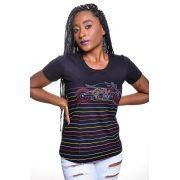 Camiseta Feminina Moto Color