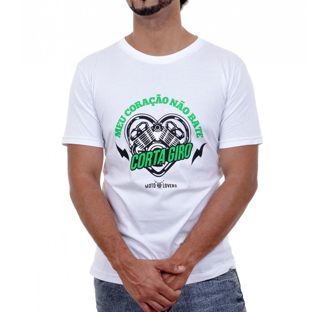 Camiseta Corta Giro - Branca