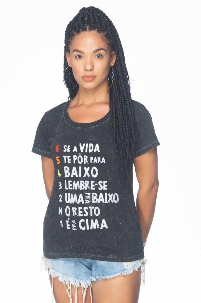 Camiseta Feminina Lema Motociclista