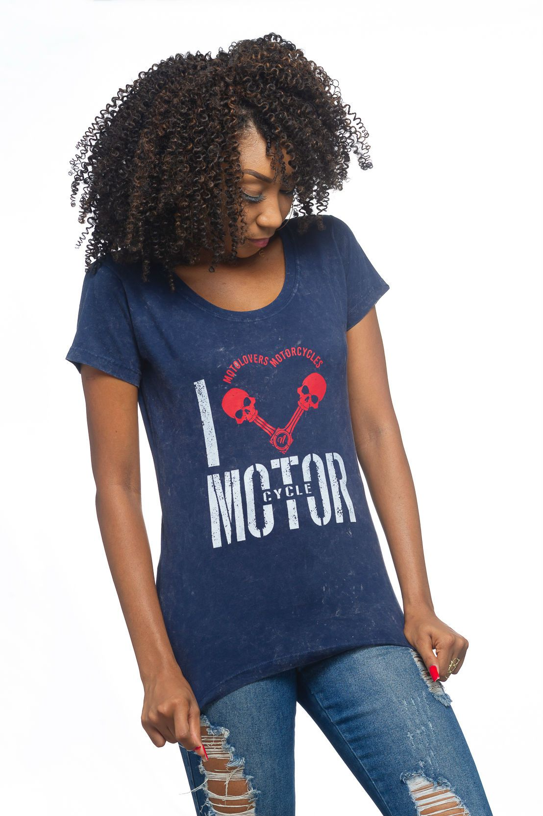 Camiseta Feminina I Love Motorcycle