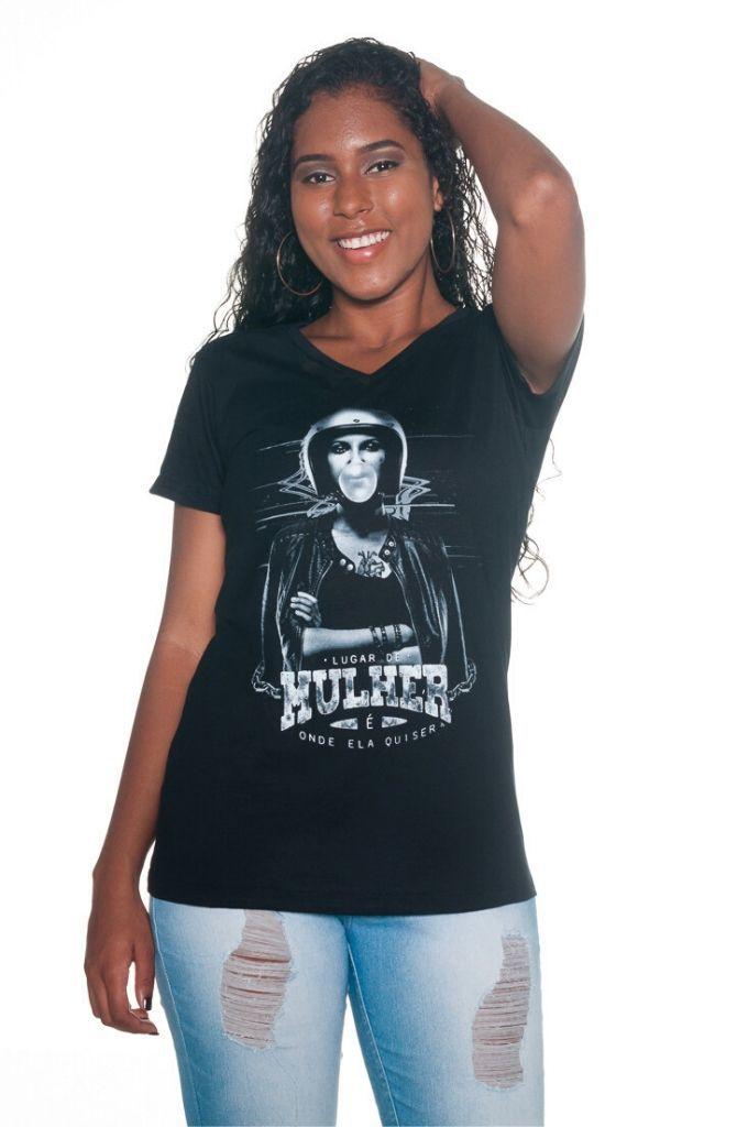 Camiseta Lugar de Mulher é onde ela quiser