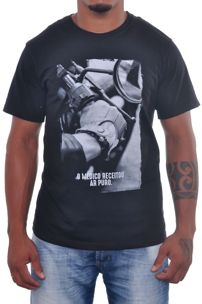 Camiseta Moto Lovers - Ar Puro