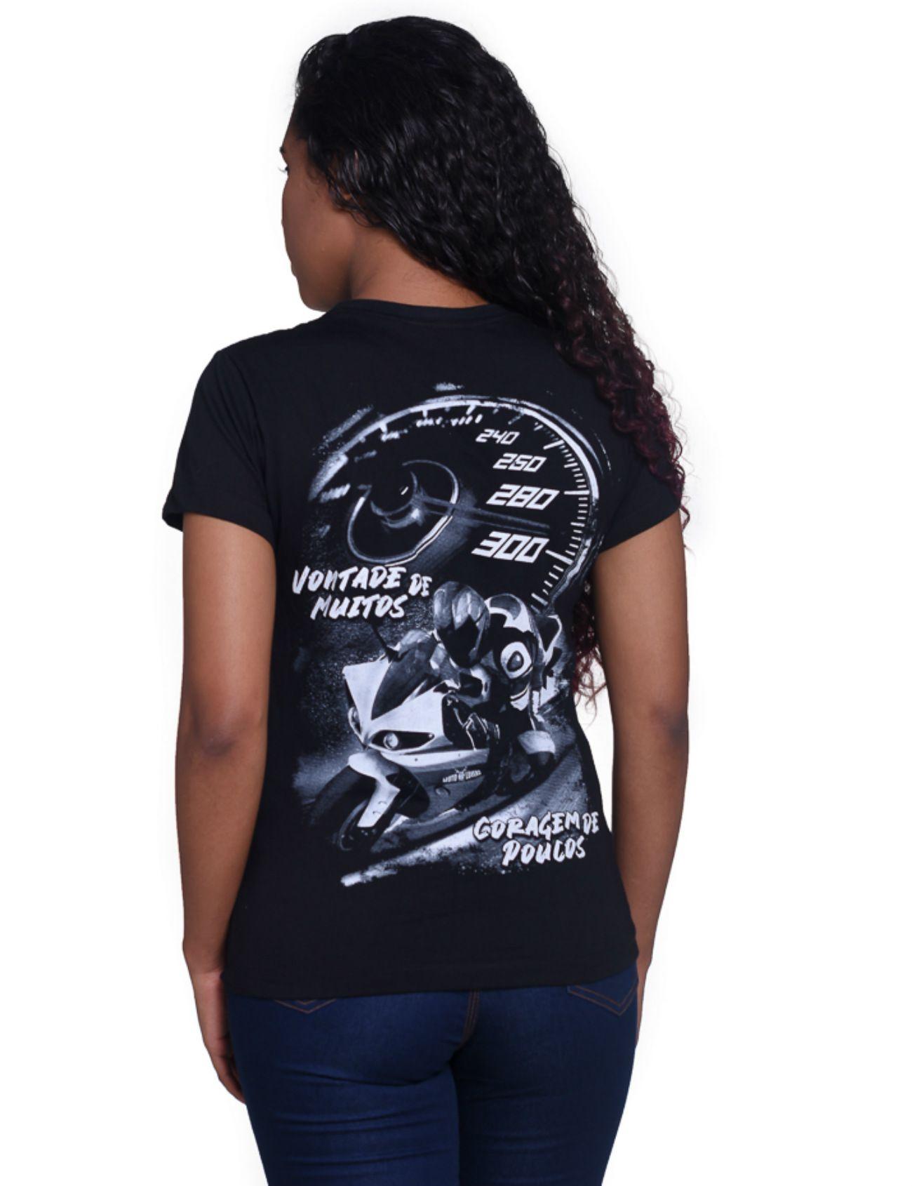 Camiseta Feminina Coragem de Poucos