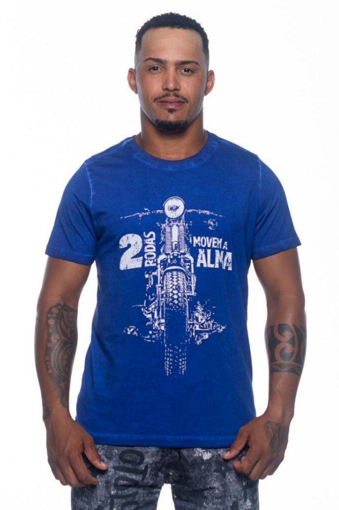 Camiseta Duas Rodas - Azul