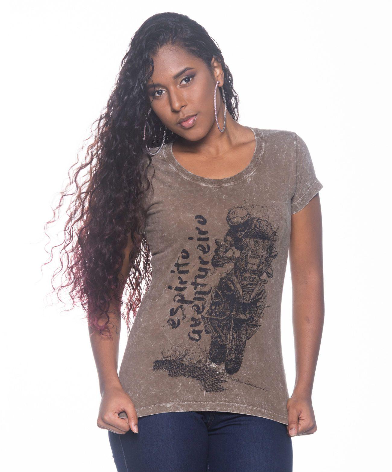Camiseta Feminina Espirito Aventureiro