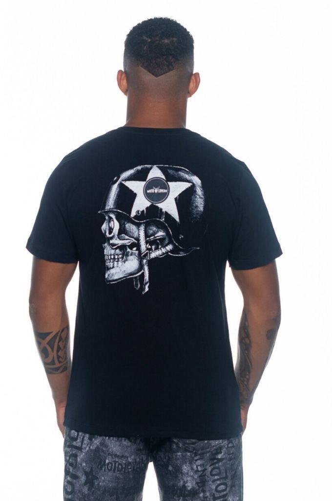 Camiseta Helmet Skull