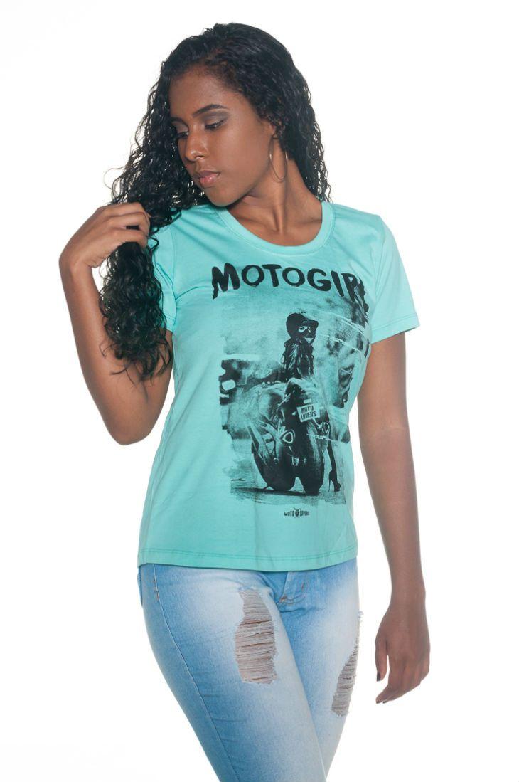 Camiseta Moto Girl