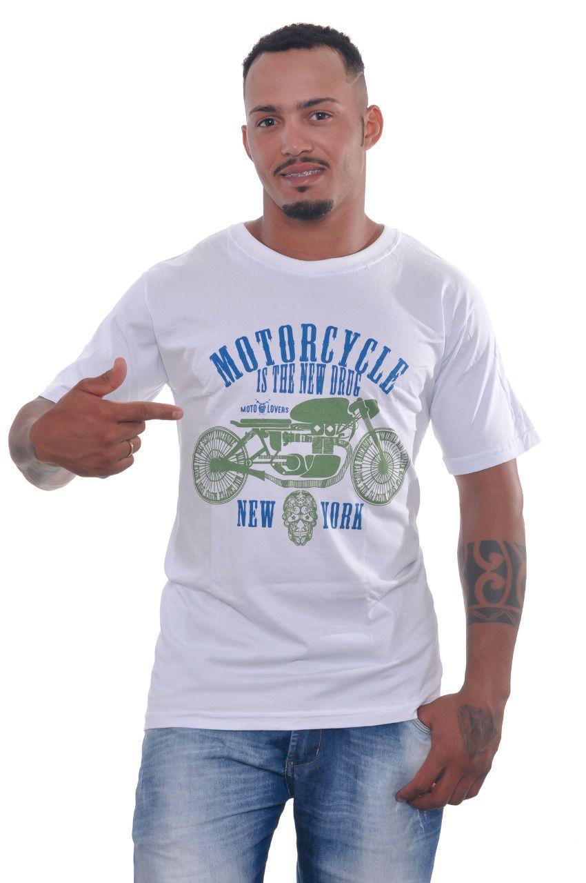 Camiseta Motorcycle - Branca