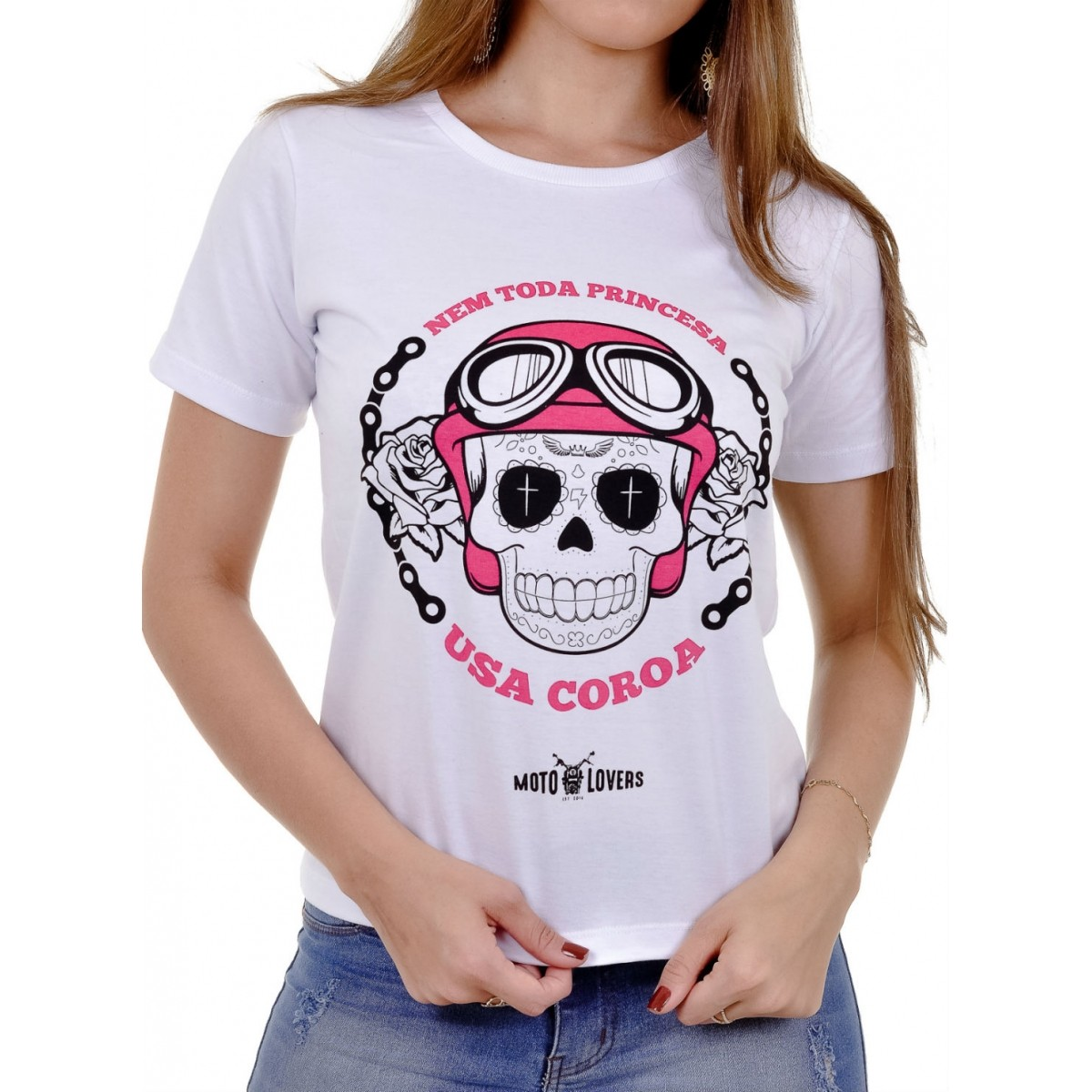 Camiseta Moto Lovers - Princesa Motociclista
