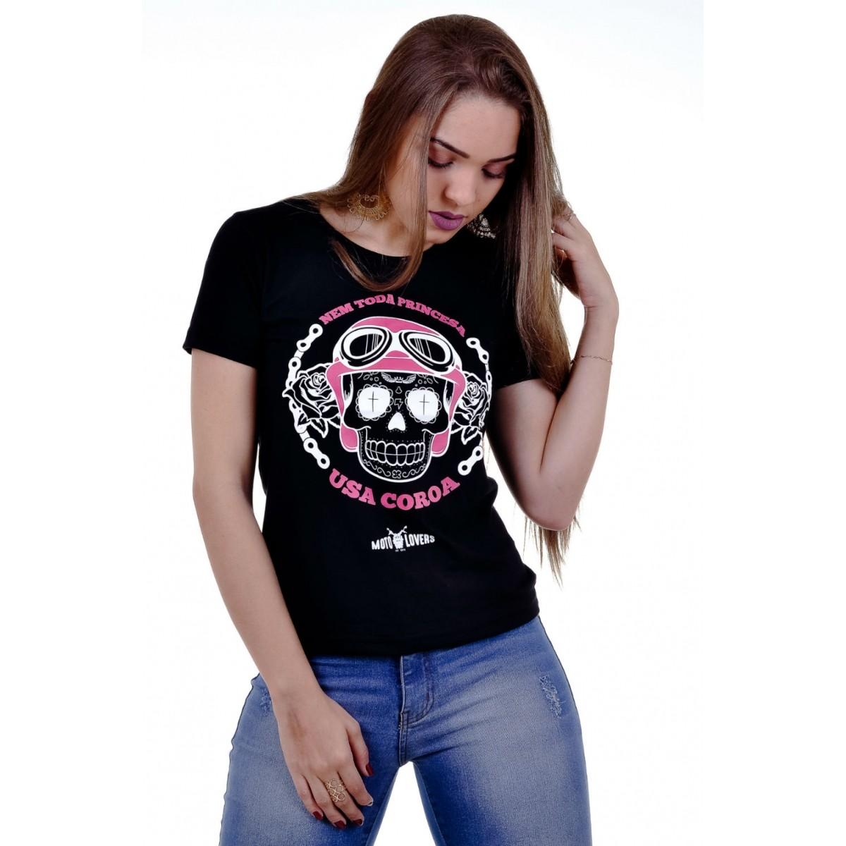 Camiseta Princesa Motociclista